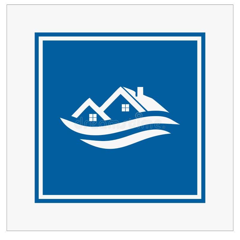 修造的,真正的estatehome和建筑商标和传染媒介设计 向量例证