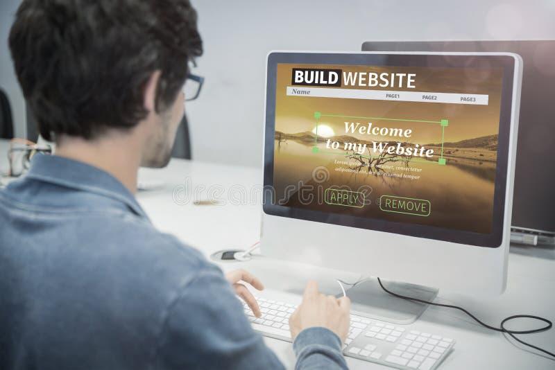 修造网站接口的综合图象的综合图象 免版税库存照片