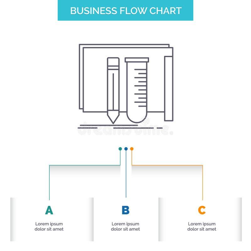 修造,设备,很好,实验室,工具企业与3步的流程图设计 r 向量例证