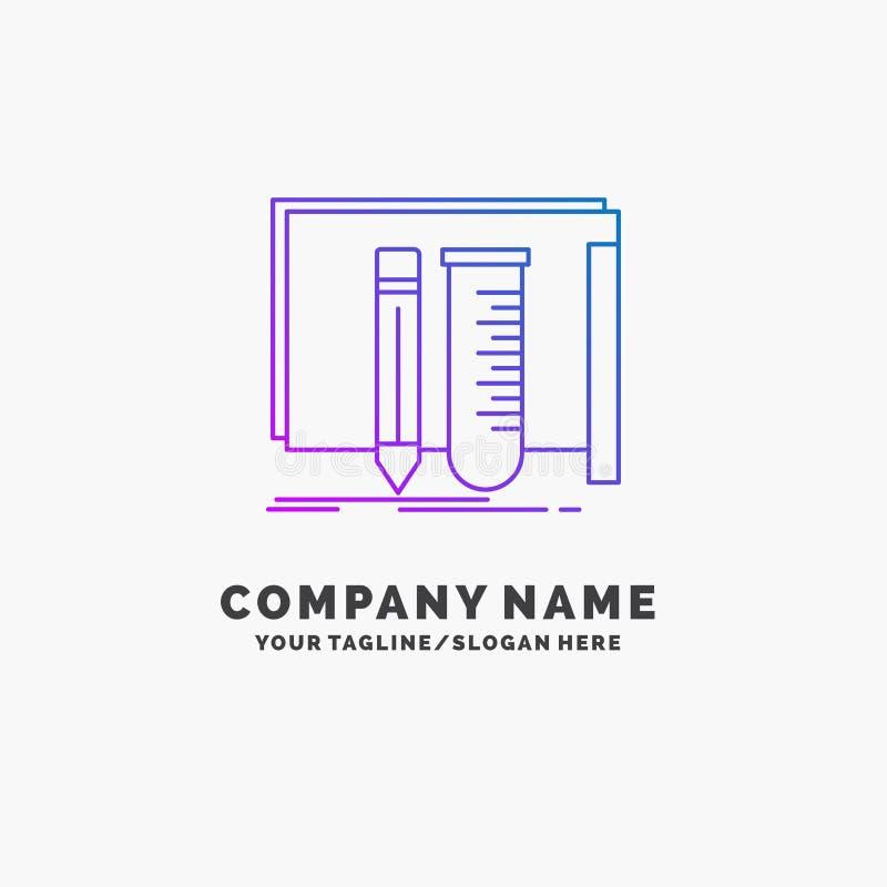修造,设备,很好,实验室,工具紫色企业商标模板 r 库存例证