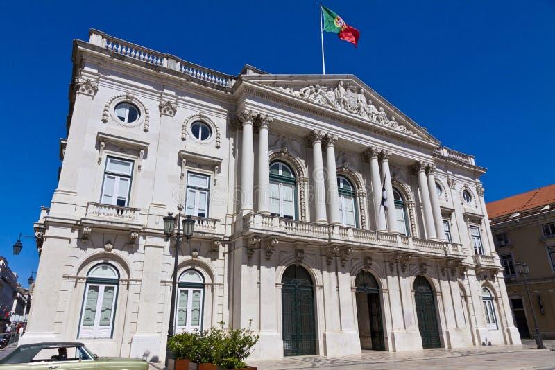 修造Camara自治都市的香港大会堂在里斯本,葡萄牙 免版税库存照片