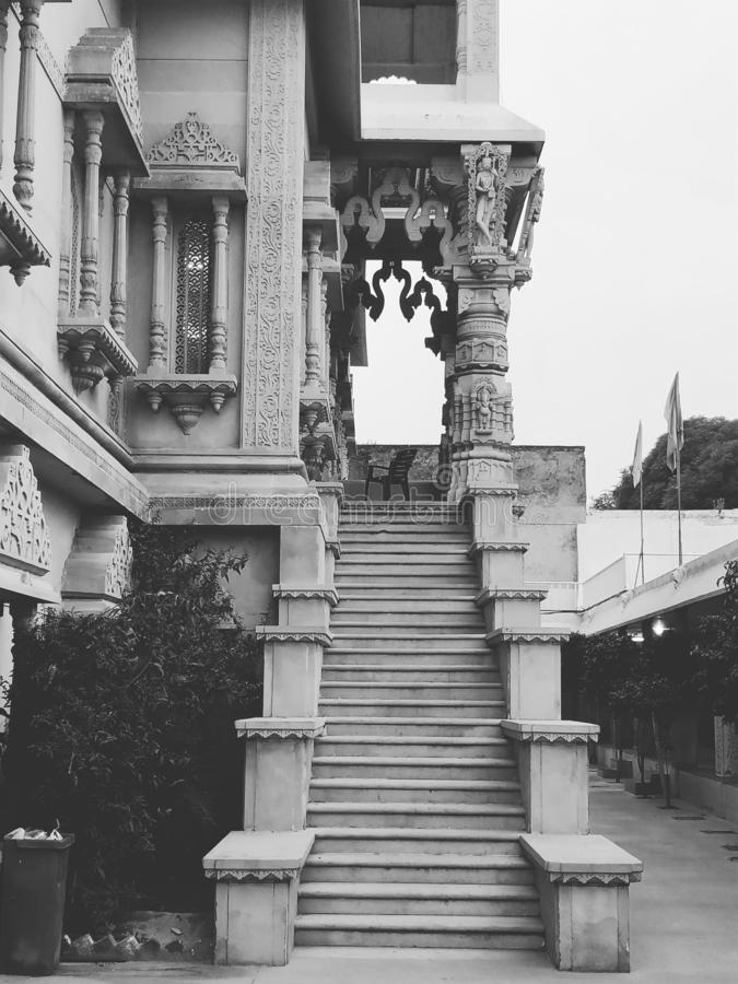 修造ludhiana旁遮普邦印度的台阶 库存图片