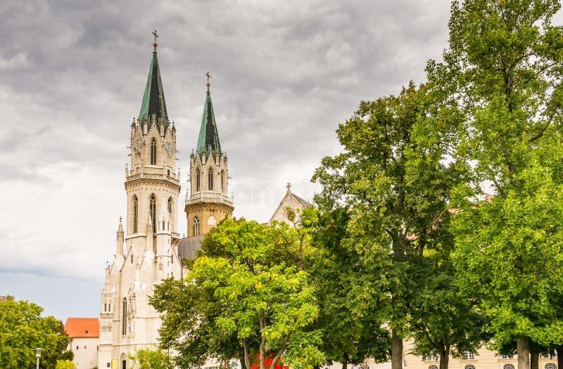 修道院克洛斯特新堡在奥地利 库存图片