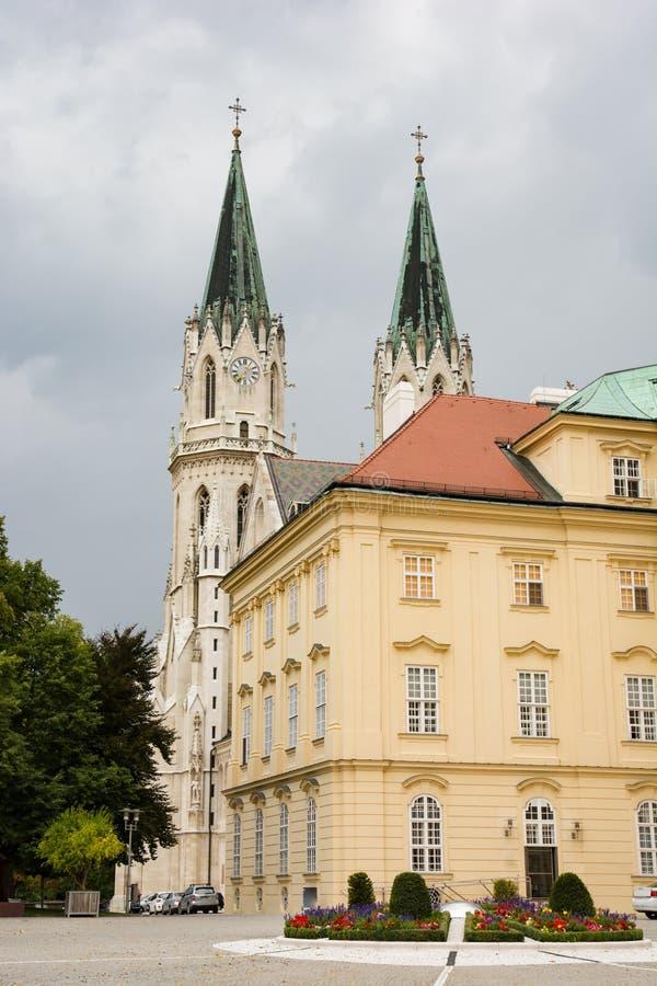 修道院克洛斯特新堡在奥地利 免版税图库摄影