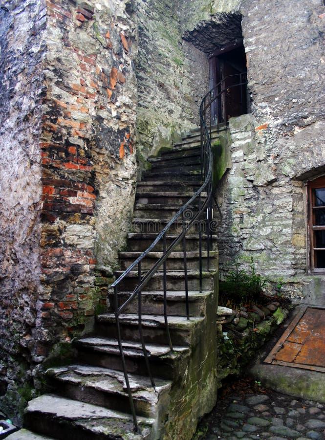 修道院台阶 免版税库存照片