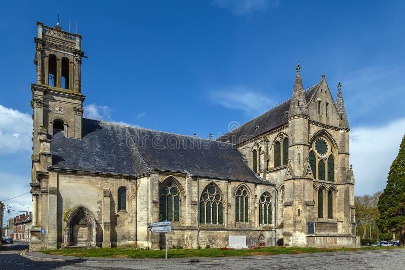 修道院圣徒Leger,苏瓦松,法国 免版税图库摄影
