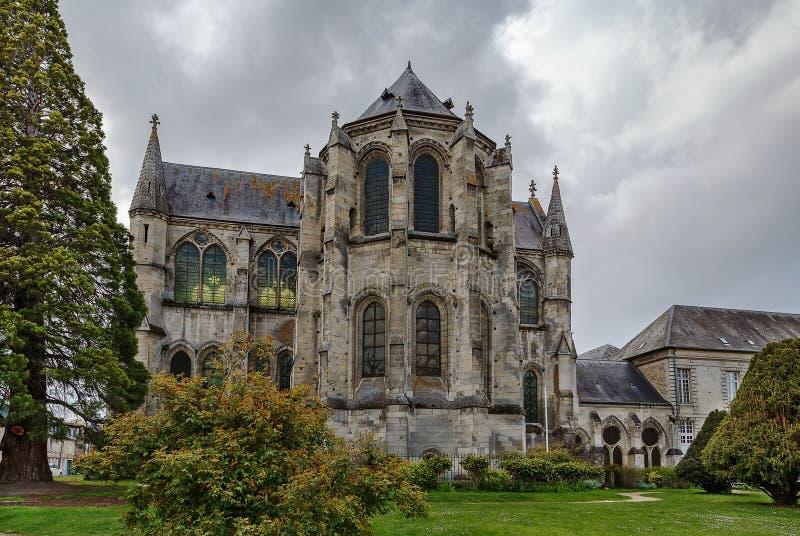 修道院圣徒Leger,苏瓦松,法国 库存照片