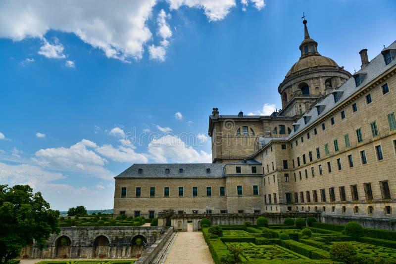 修道院圣洛伦佐el埃斯科里亚尔。马德里,西班牙 免版税库存照片