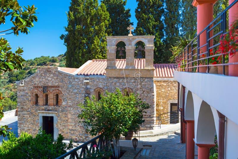 修道院在克利特山的Kera Kardiotissa  免版税库存图片