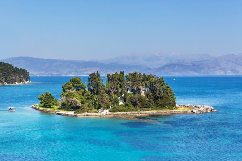 修道院在科孚岛 免版税库存图片