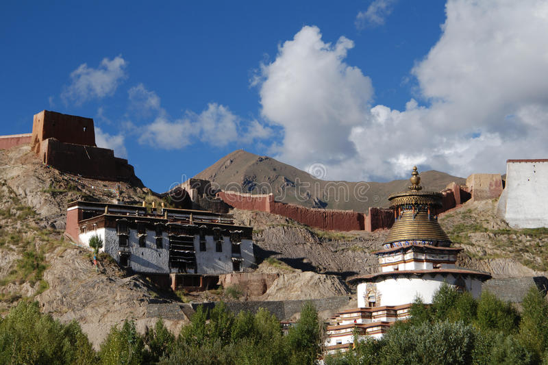 修道院在西藏 库存照片