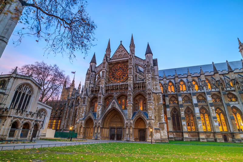 修道院大教堂在伦敦,英国 免版税库存照片