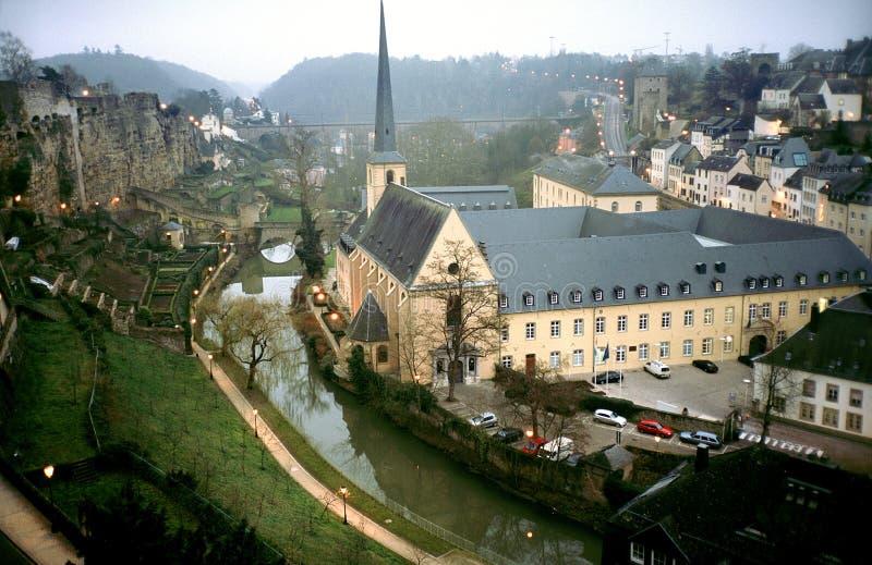 修道院教会卢森堡 免版税图库摄影