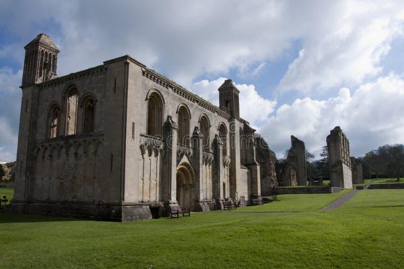 修道院教堂glastonbury夫人废墟 库存照片
