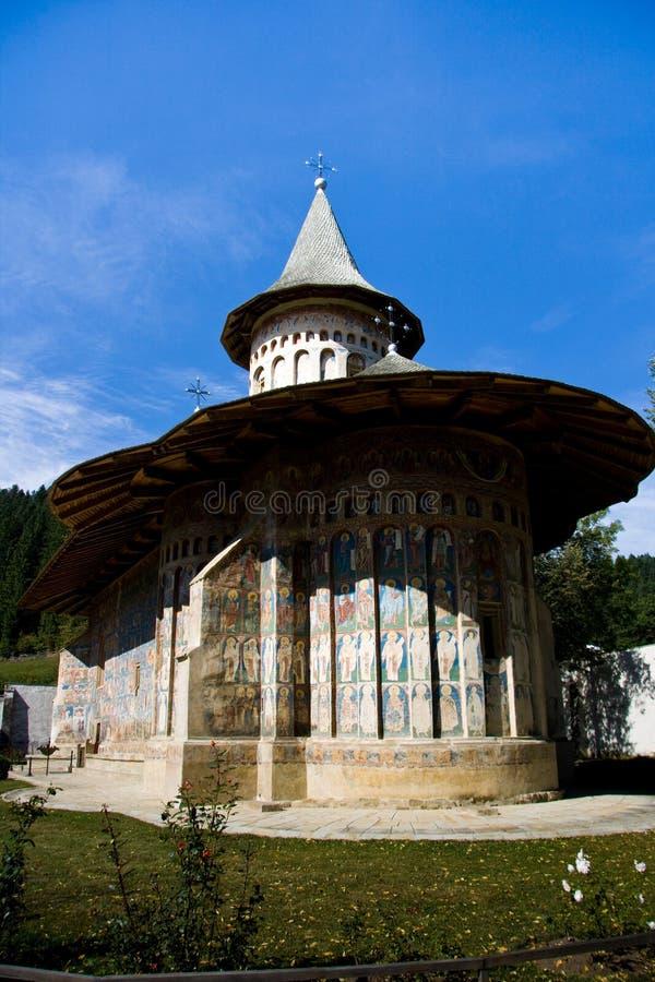 修道院正统罗马尼亚voronet 免版税库存图片