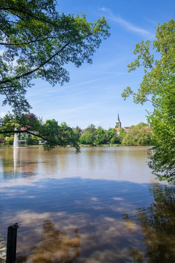 修道院湖在辛德尔芬根德国 库存图片