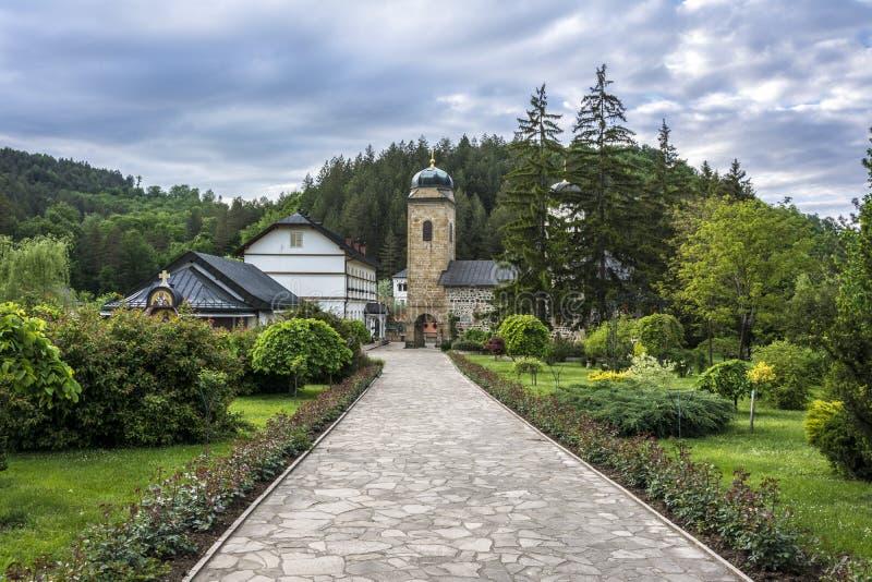 修道院的庭院 库存图片