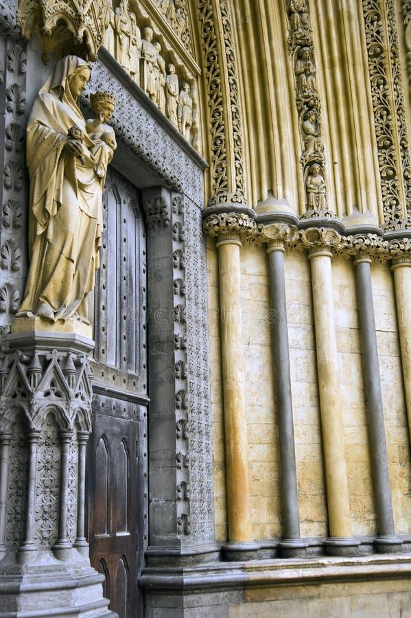 修道院详细资料伦敦staue威斯敏斯特 免版税库存图片