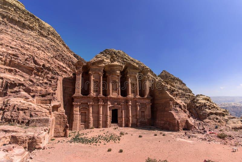 修道院,Petra,约旦 库存图片