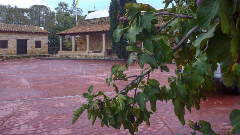 修道院贴水nicolaos在episkopi的吨gaton在塞浦路斯 免版税库存照片