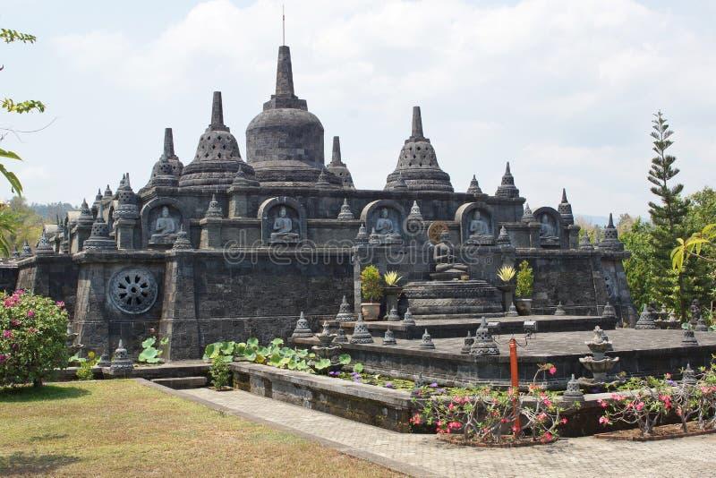 修道院Brahma Vihara, Lovina,巴厘岛,印度尼西亚 库存图片