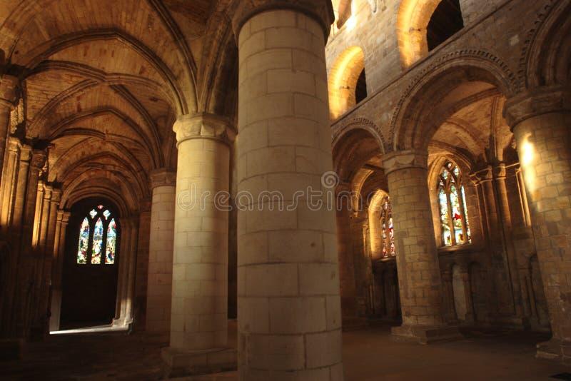 修道院dunfermline宫殿 库存图片