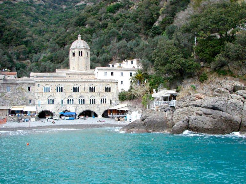 修道院fruttuoso意大利圣 库存照片