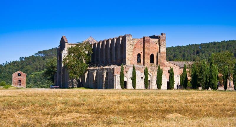 修道院galgano意大利圣・托斯卡纳 免版税库存照片