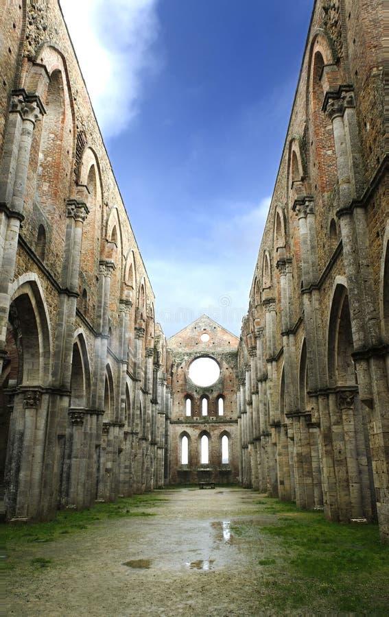修道院galgano st托斯卡纳 免版税库存照片