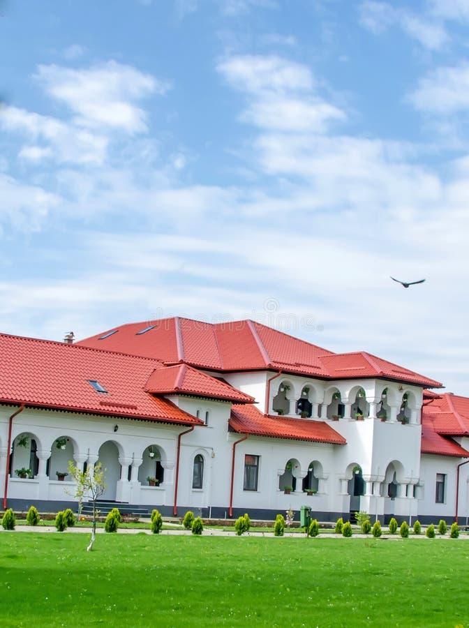 修道院Ghighiu,庭院 库存图片