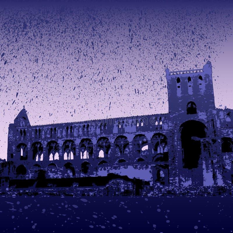 修道院jedburgh废墟 向量例证