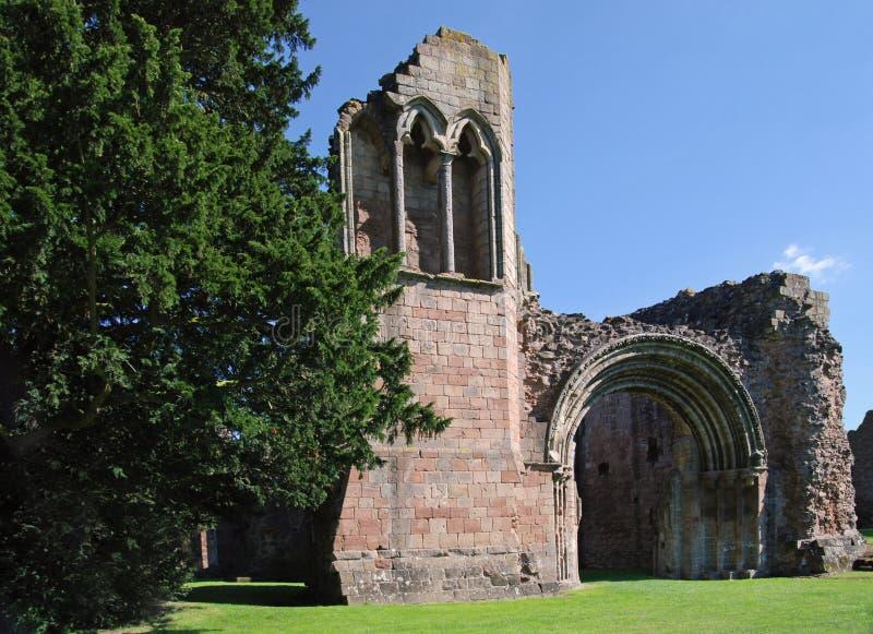 修道院lilleshall破坏英国 免版税库存照片