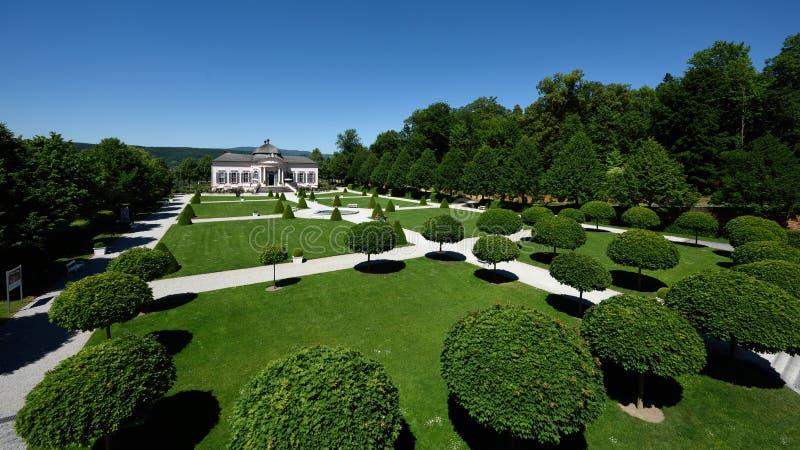 修道院Melk庭院,瓦豪,奥地利 图库摄影