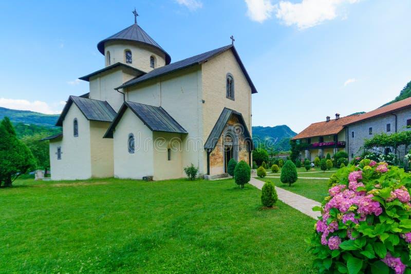 修道院montenegro moraca夏天旅行 图库摄影