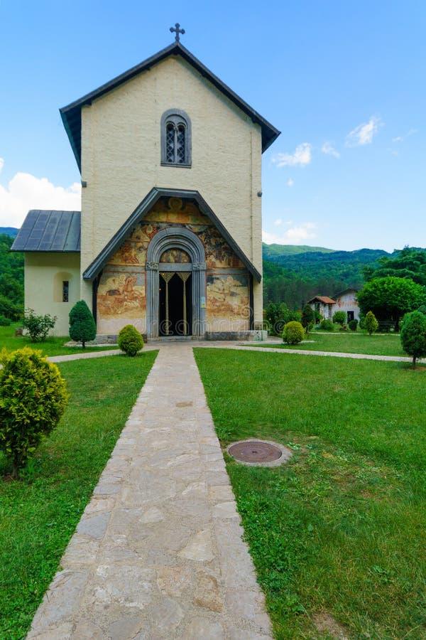 修道院montenegro moraca夏天旅行 免版税图库摄影