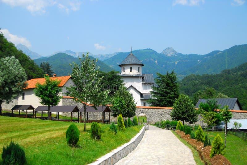 修道院montenegro moraca 免版税图库摄影