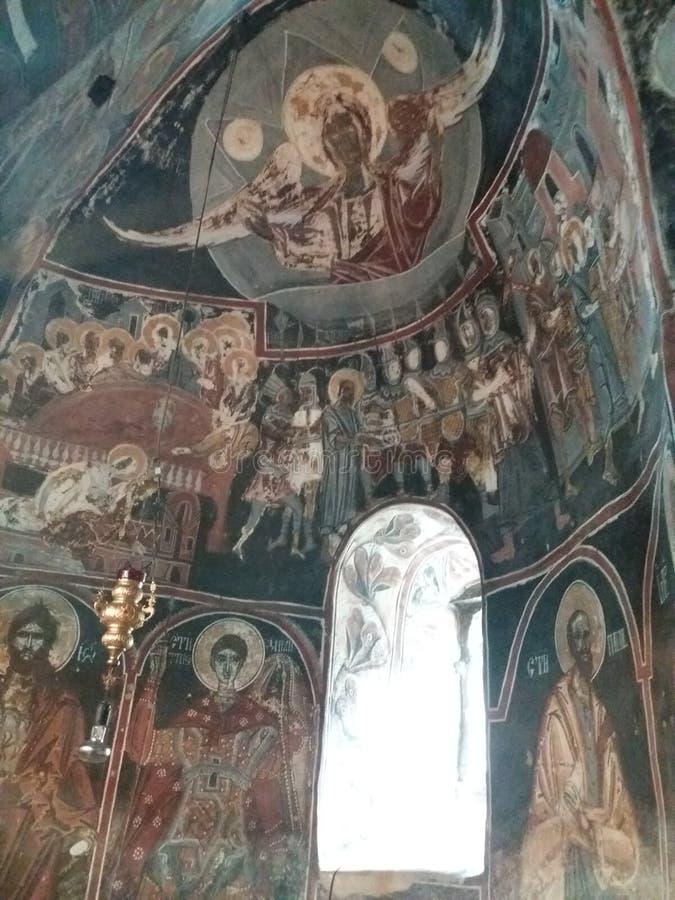 修道院Nikolje -塞尔维亚 库存照片