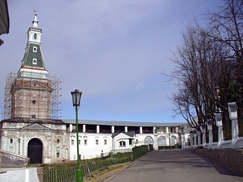 修道院posad sergiev sergius st三位一体 库存图片