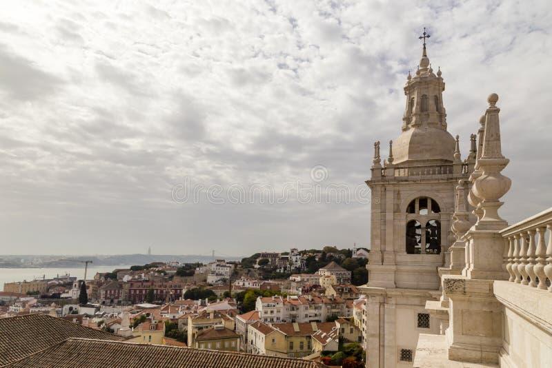 修道院Saoo维森特de Fora有看法老 库存图片