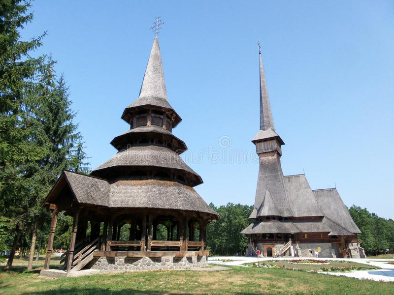 修道院Sapanta仙子, Maramures,罗马尼亚 库存照片