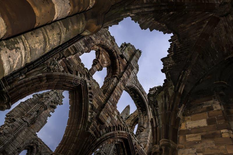 修道院whitby的英国 库存照片