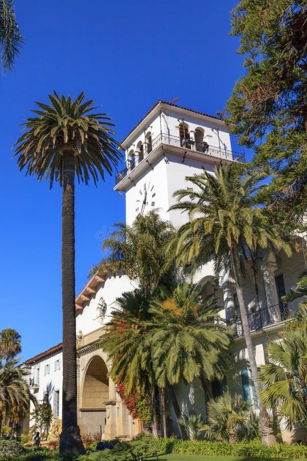 修建圣塔巴巴拉加利福尼亚的法院 免版税库存照片
