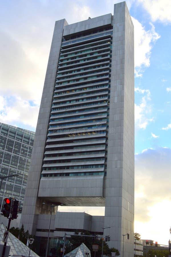 修建波士顿的联邦储备银行 库存照片