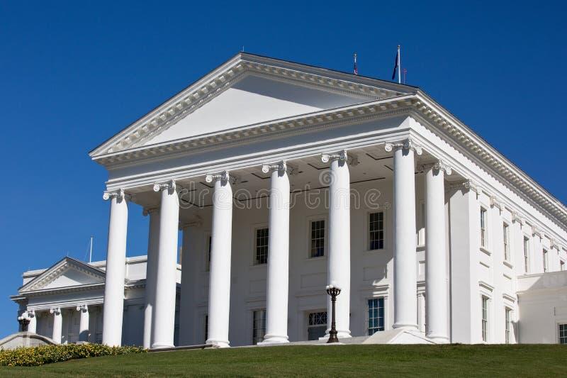修建里士满的弗吉尼亚国会大厦 库存照片