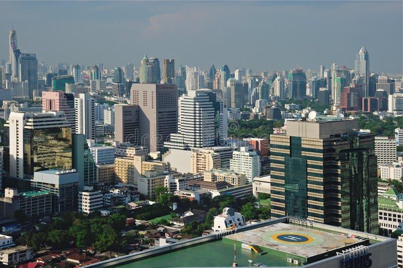 从俯视图的曼谷地平线 免版税库存图片