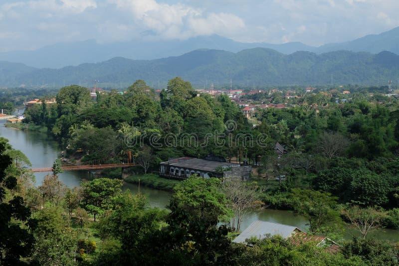 从俯视图的老挝 免版税库存照片