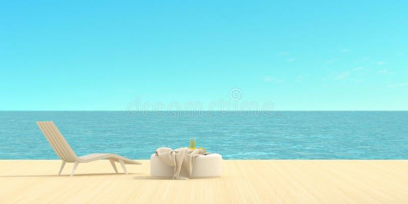 俯视海运的大阳台 免版税库存图片