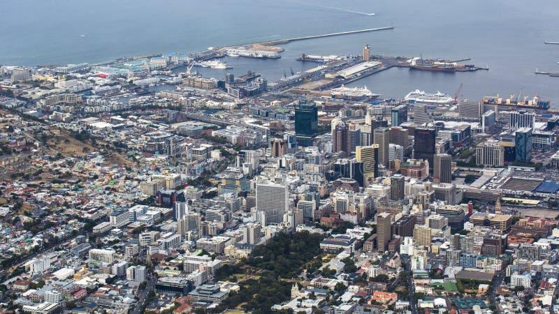 俯视的开普敦,南非 库存照片
