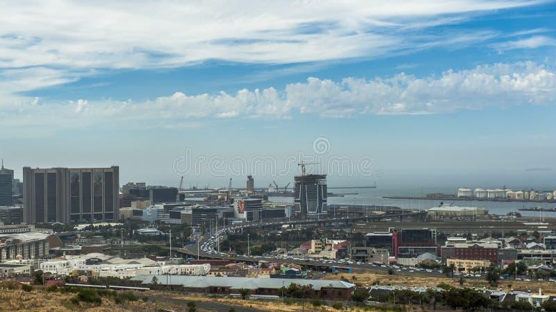 俯视的开普敦,南非 库存图片