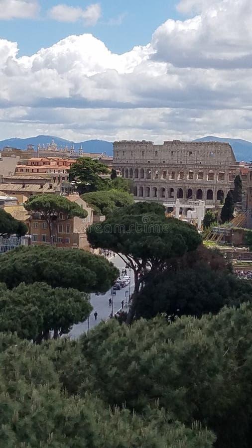 俯视的罗马 免版税库存照片